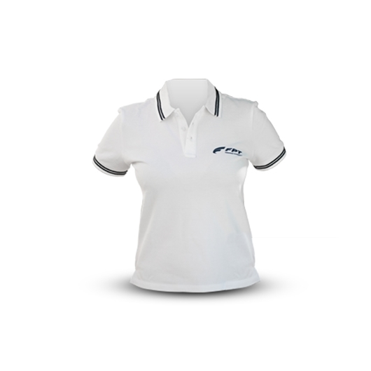Picture of WHITE AND BLUE SLAM POLO SHIRT